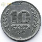 Нидерланды 1943 10 центов (цинк)