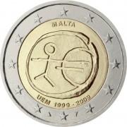 Мальта 2009 2 евро 10 лет экономическому и валютному союзу