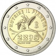 Италия 2015 2 евро Экспо Милан