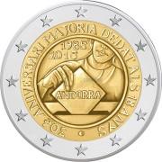 Андорра 2015 2 евро Принятия возраста совершеннолетия