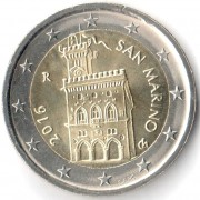 Сан-Марино 2016 2 евро Резиденция парламента