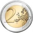 Франция 2010 2 евро Шарль де Голль