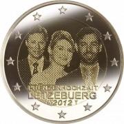 Люксембург 2012 2 евро Свадьба Гийома и Стефании