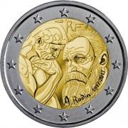 Франция 2017 2 евро Огюст Роден