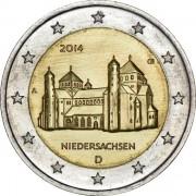 Германия 2014 2 евро Нижняя Саксония J
