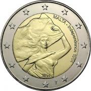 Мальта 2014 2 евро 50 лет независимости