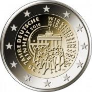 Германия 2015 2 евро 25 лет Объединения Германии J