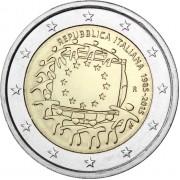 Италия 2015 2 евро 30 лет флагу Европейского союза