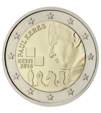 Эстония 2016 2 евро 100 лет со дня рождения Пауля Кереса
