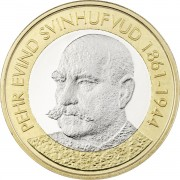 Финляндия 2016 5 евро Свинхувуд Пер Эвинд
