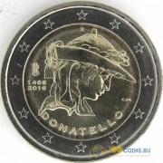 Италия 2016 2 евро 550 лет со дня смерти Донателло