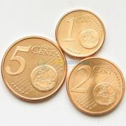 Испания Набор 3 монеты евро 2011 (1-5 центов)