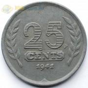 Нидерланды 1941 25 центов (цинк)