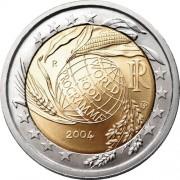 Италия 2004 2 евро ФАО
