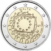 Мальта 2015 2 евро 30 лет флагу Европейского союза