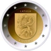 Латвия 2016 2 евро Видземе