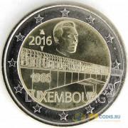 Люксембург 2016 2 евро 50 лет моста герцогини Шарлотты