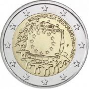 Германия 2015 2 евро 30 лет флагу Европейского союза A