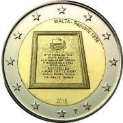 Мальта 2015 2 евро Республика 1974 года
