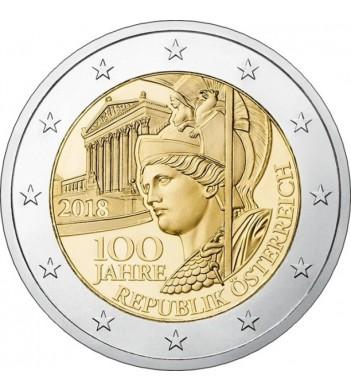 Австрия 2018 2 евро 100 лет Австрии