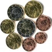 Эстония Набор 8 монет евро 2011 (1-50 центов, 1-2 евро)