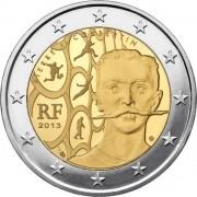 Франция 2013 2 евро Пьер де Кубертен