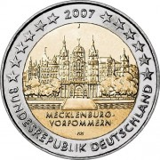 Германия 2007 2 евро Мекленбург-Передняя Померания F