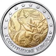 Италия 2005 2 евро Европейская конституция