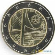 Португалия 2016 2 евро 50 лет моста имени 25 апреля