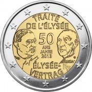 Франция 2013 2 евро Елисейский договор