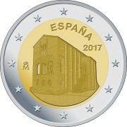 Испания 2017 2 евро Церковь в Овьедо