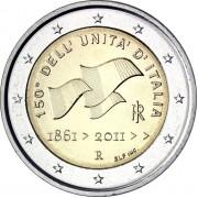 Италия 2011 2 евро 150 лет объединения Италии
