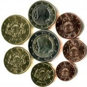 Латвия Набор 8 монет евро 2014 (1-50 центов, 1-2 евро)