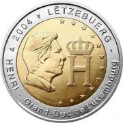Люксембург 2004 2 евро Герцог Анри Нассау