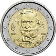 Италия 2013 2 евро 200 лет со дня рождения Джузеппе Верди