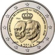 Люксембург 2014 2 евро 50 лет на престоле Герцога Жана