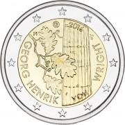 Финляндия 2016 2 евро Георг Хенрик фон Вригт