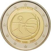Словения 2009 2 евро 10 лет экономическому и валютному союзу