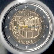 Андорра 2016 2 евро 150 лет реформе