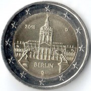 Германия 2018 2 евро Берлин D