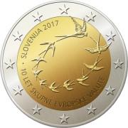 Словения 2017 2 евро 10 лет евро в Словении