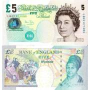 Великобритания бона 5 фунтов 2002