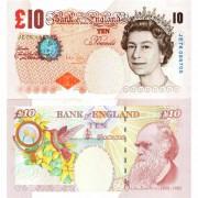 Великобритания бона 10 фунтов 2000