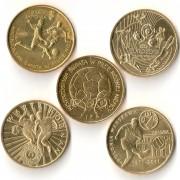 Польша набор 5 монет 2002-2013 Футбол