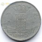 Бельгия 1943 1 франк BELGIQUE
