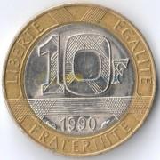 Франция 1990 10 франков