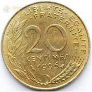 Франция 1996 20 сантимов