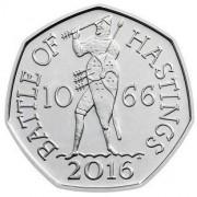Великобритания 2016 50 пенсов Битва при Гастингсе
