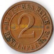 Германия 1923 2 пфеннига