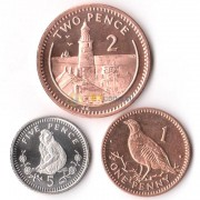 Гибралтар 1998-2003 набор 3 монеты